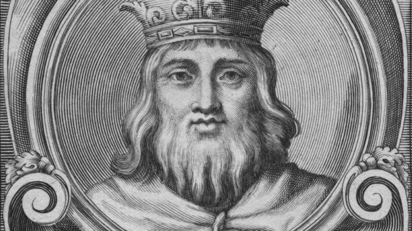 Circa 1300, King Wenceslas II of Bohemia.