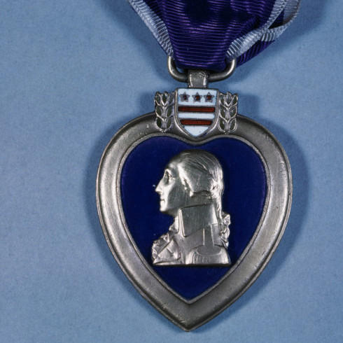 The Purple Heart is awarded to service members who have been wounded or killed in action.