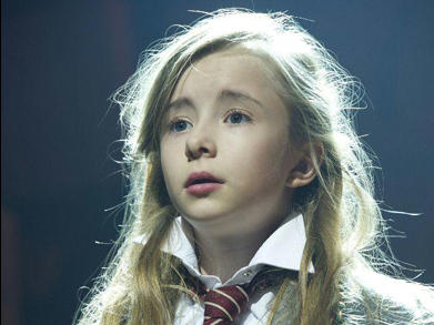 Kerry Ingram is one of four young actresses portraying the title role in <em>Matilda the Musical</em>.