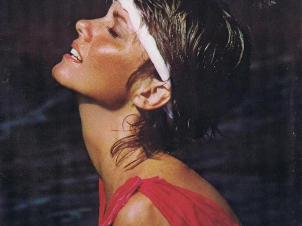 Olivia Newton-John on the cover of <em>Physical</em>.