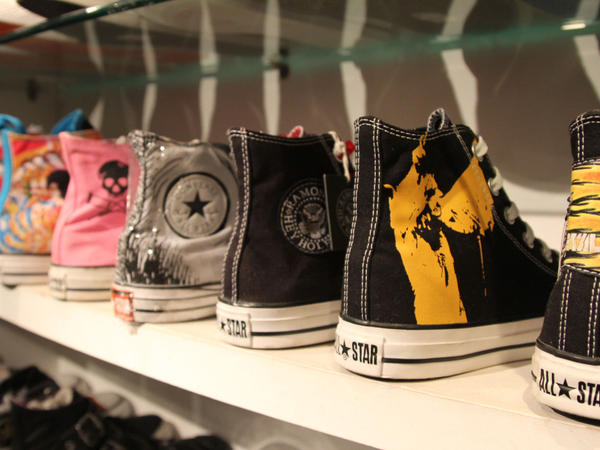 My Tee in Shanghai carries loads of limited edition Chuck Taylors from cities in Japan and New York. Owner Kenny Lee considers some of them museum pieces and has refused to sell them despite offers of up to $3,000.
