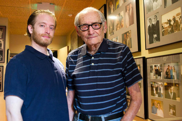 Charles Aidikoff, 97, learned the art of projection from his father, who ran silent movies in a Coney Island theater in the early 1900s. Aidikoff's grandson Josh carries on the family tradition — he became manager of the screening room at age 19.