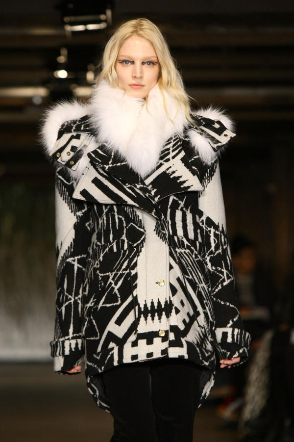 <strong>Bundle Up:</strong> Coats fell out of favor for a few seasons, but they're back — big time — in 2012. Above, a design from Joseph Altuzarra.