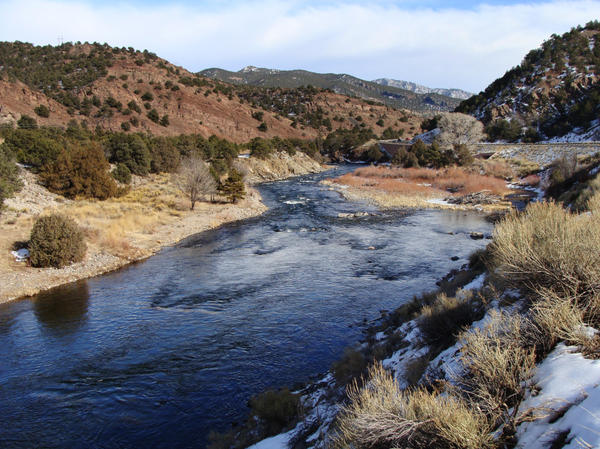 Christo traveled thousands of miles to find a canyon that suits his <em>Over the River </em>project, but he faces opposition from some locals near his preferred site along the Arkansas River in Colorado.