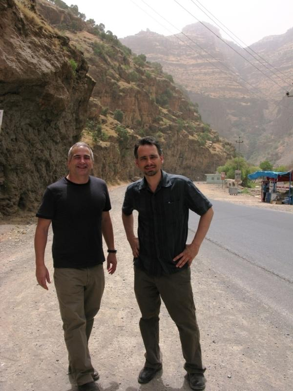 Quil Lawrence met Anthony Shadid in Afghanistan in the winter of 2001. Here, Shadid (left) and Lawrence are seen on a trip to Iraqi Kurdistan in summer of 2009.