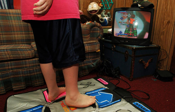 """Just because it's an """"active"""" video game, doesn't mean the kid stays active."""