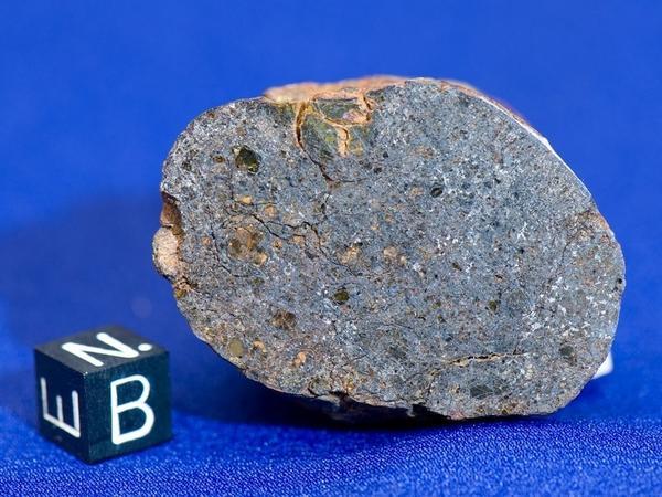 A rare mesosiderite meteorite found by Ruben Garcia.