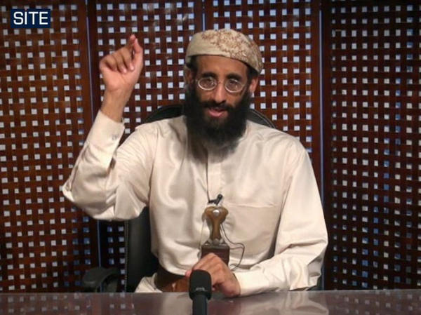 In this image taken from video and released by SITE Intelligence Group, U.S.-born cleric Anwar al-Awlaki speaks in a video message posted on radical websites in November 2010. Awlaki was killed in a U.S. drone strike in 2011.