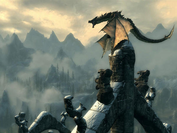 In the popular video game <em>The Elder Scrolls V: Skyrim</em>, the player fights ancient dragons and can learn their secrets in order to harness their powers.
