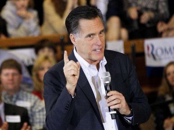 Republican presidential candidate Mitt Romney speaks at the Mississippi Farmers Market in Jackson, Miss., on Friday. The former Massachusetts governor has  skeptics in the Deep South.