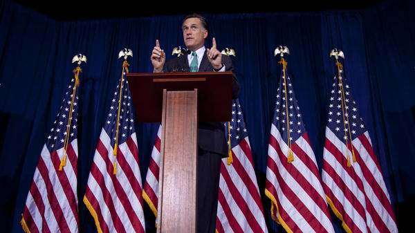 Mitt Romney speaks at the University of Chicago on Monday.