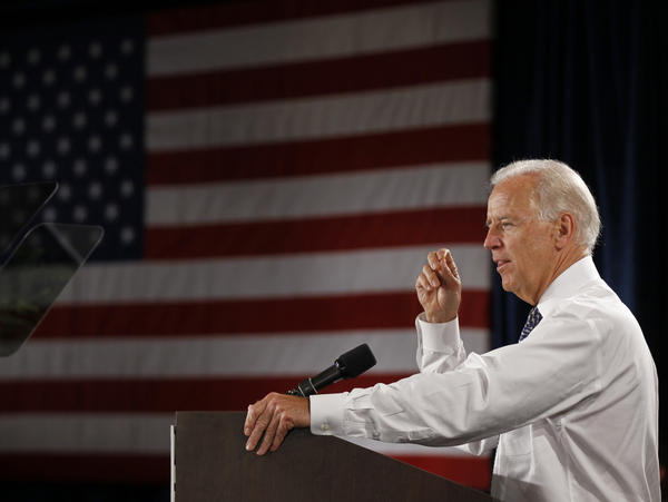 Vice President Joe Biden speaks about Republicans' proposed changes to Medicare, at Wynmoor Village retirement community in Coconut Creek, Fla., on Friday.