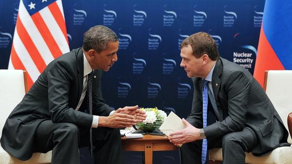 President Obama's remarks about missile defense to Russian President Dmitry Medvedev were meant for his ears only. But they were picked up by a microphone, and have drawn sharp criticism from Mitt Romeny and other Republicans. Obama and Medvedev are shown here on Monday at a nuclear summit in Seoul, South Korea.