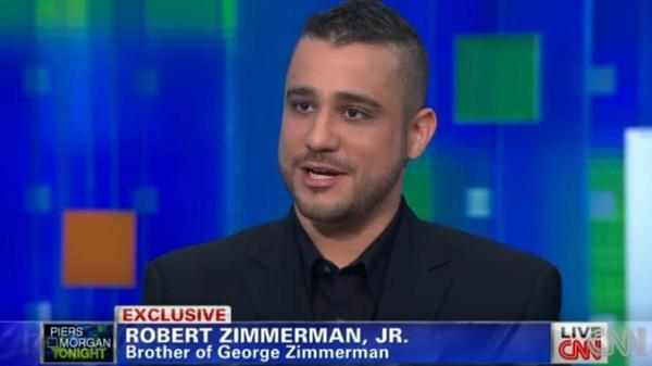 Robert Zimmerman Jr., brother of George Zimmerman, during his interview with CNN's Piers Morgan.