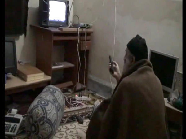 During the raid on Osama bin Laden's compound in Abbottabad, Pakistan, a video showing the al-Qaida leader watching television was discovered.