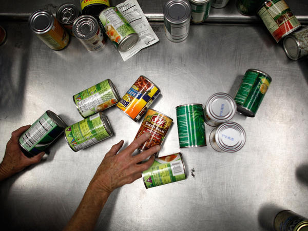"""Environmental groups say a ban would protect consumers from the health effects of BPA that leaches from products including some soup cans<a href=""""http://www.npr.org/2011/03/02/134196209/study-most-plastics-leach-hormone-like-chemicals""""></a>."""