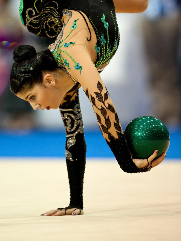 Rhythmic gymnast Julie Zetlin, seen here during last October's Pan-American Games, hopes to win a medal for the United States at the Summer Olympics in London.