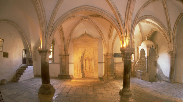This room, known as the Cenacle on Mount Zion in Jerusalem, is venerated as the site of Jesus' Last Supper. Jews and Muslims also consider the building to be a holy site, and it has been a source of contention for years. Israel and the Vatican may be nearing an agreement.
