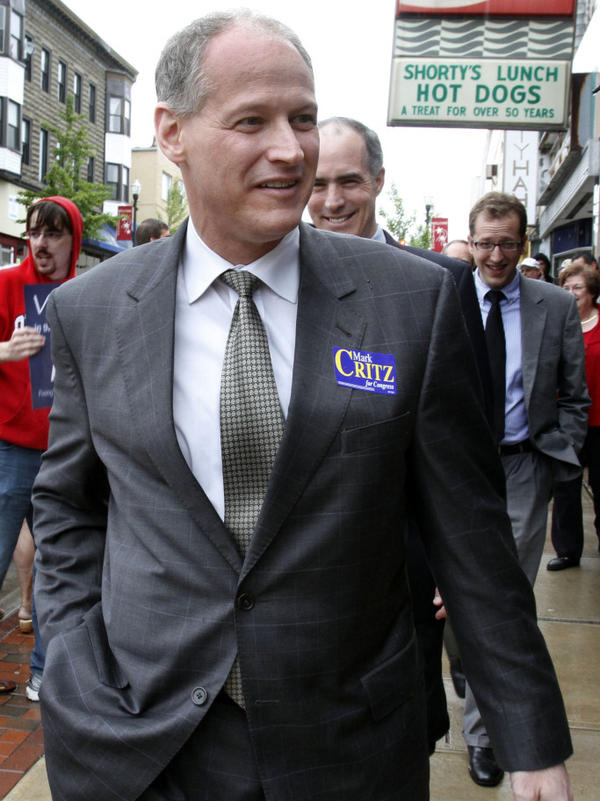 Mark Critz in 2010, while campaigning in Washington, Pa., during a special election to fill the seat vacated after the death of his former boss, Rep. John Murtha.