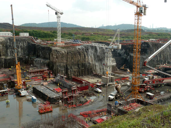 This photo from Dec. 21, 2011, shows construction of new locks on the Panama Canal, in Cocoli, Panama.