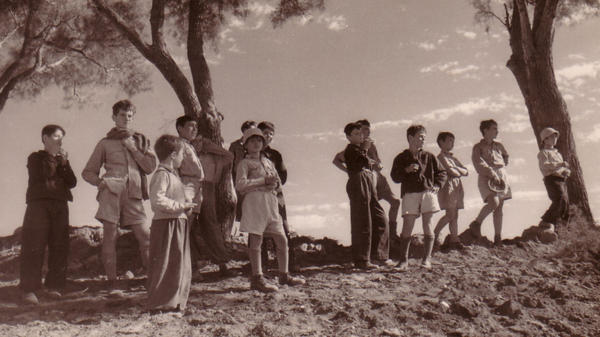 This 1948 photo shows children from Hulda, a collective community, or kibbutz, located in central Israel<em>.</em>