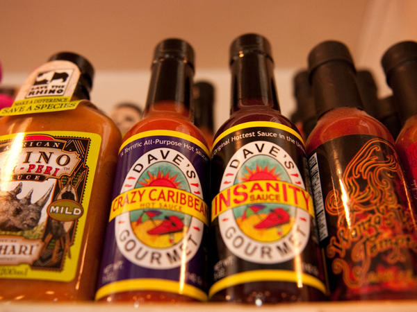 Dave's Insanity Sauce, touted as the hottest sauce on the market.