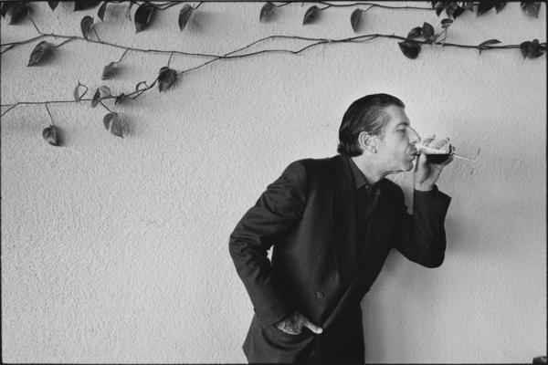 A portrait of Leonard Cohen.