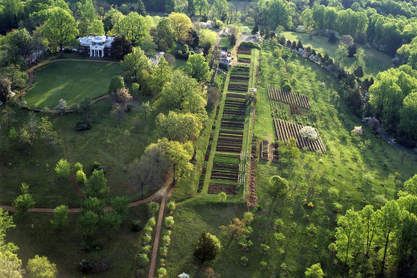 Thomas Jefferson's garden at Monticello served as an experimental laboratory for garden vegetables from around the world.
