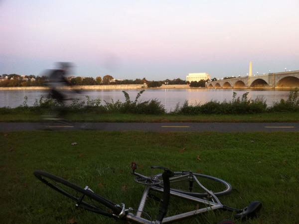 Just because you're biking to work doesn't mean it can't be a nice ride — and you also don't have to ride straight home. This photo was taken on an afternoon along the Potomac River, outside Washington, D.C.