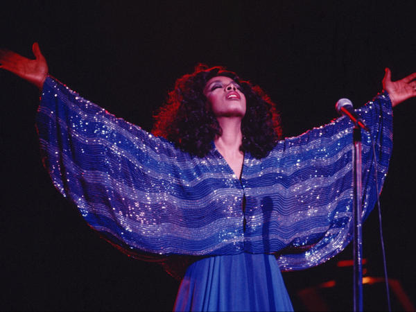 """""""Queen of Disco"""" Donna Summer performs in 1979. (Michael Ochs Archives/Getty Images)"""