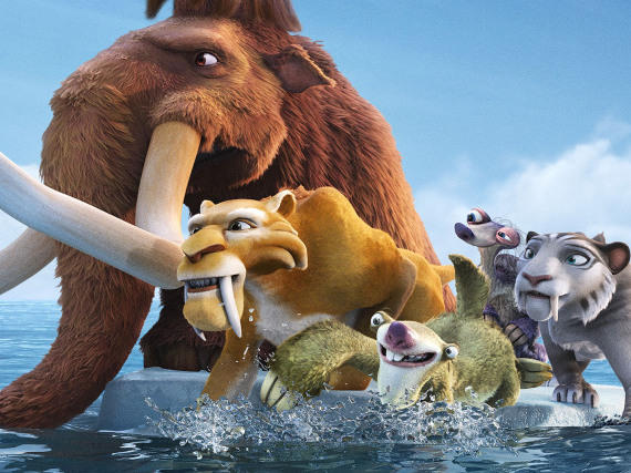 Prehistoric creatures Manny, Diego, Sid and friends return in <em>Ice Age: Continental Drift</em> in theaters July 13 in America, but internationally as soon as June 27 (in France).