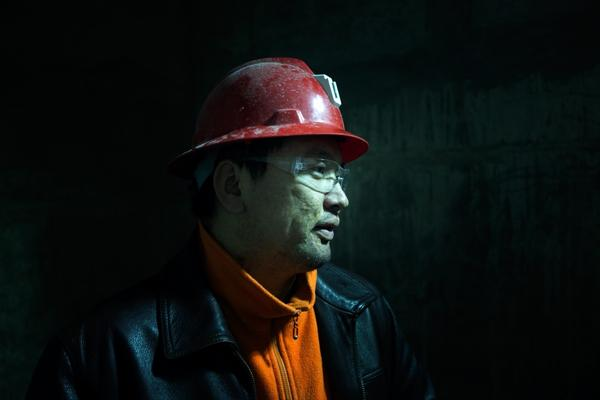 Tseren-ochir, in his mid-30s, is a mine superintendent at Oyu Tolgoi. He is supervising workers as they dig a nearly 5,000-foot-deep shaft down to the copper ore.