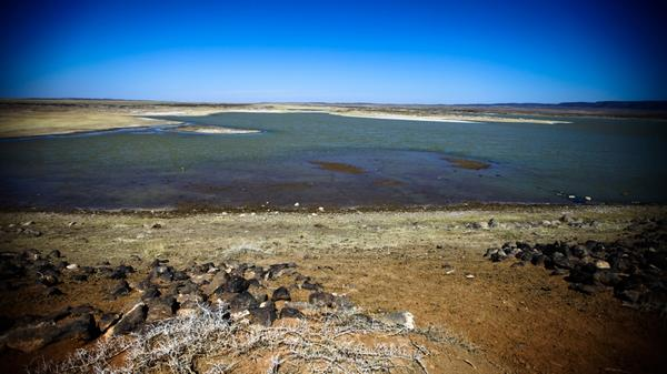 This small lake, which has recently receded, is one of the few permanent bodies of water in South Gobi. The government recently reversed a ban on using the aquifer underneath.