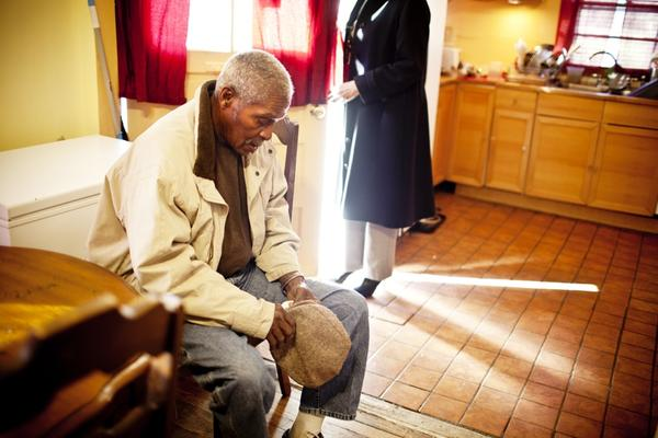 Franklin Brunson, 81, who lives with dementia, moved into his daughter's home over two years ago.