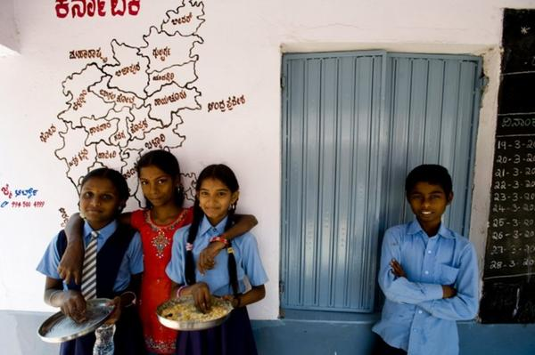 The Akshaya Patra Foundation, a nonprofit based in Bangalore, partners with the government to make close to 1.3 million nutritious meals a day for schoolchildren throughout India.