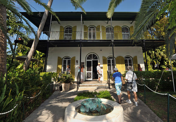 Ernest Hemingway's home in Key West, Fla., was recently  designated as a literary landmark. He lived there from 1931 through 1939 and wrote many of his manuscripts in the studio.