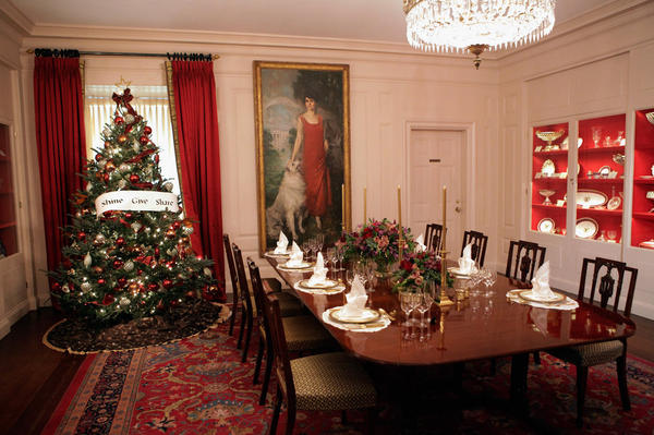 More than 100 holiday volunteers assisted with the decorations, and officials say they're expecting about 85,000 visitors to tour the White House this holiday season.