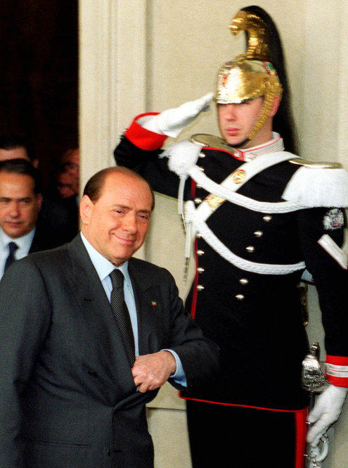 In 2001, the media tycoon was under pressure to give up stake in his media companies to avoid conflict of interest issues heading into the election. He is still the owner of Italy's three major private television networks.