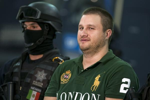 """<b>Captured Aug. 30, 2010:</b> American-born Edgar Valdez Villarreal, aka """"La Barbie,"""" an alleged leader of the Beltran Leyva drug cartel, is seen a day after he was taken down during a raid in central Mexico. He faces charges of drug trafficking in both Mexico and the U.S. His extradition to the U.S. is under way."""
