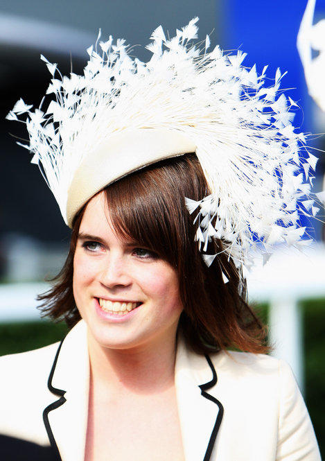 Princess Eugenie of York arrives at Ladies Day on June 19, 2008.