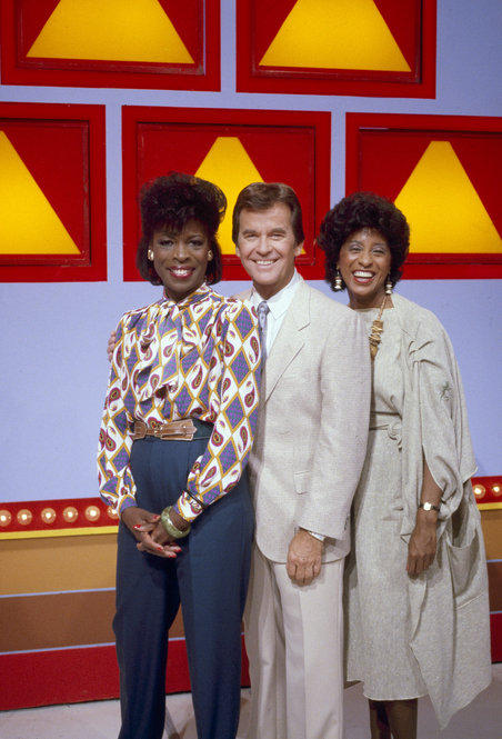 Clark broadened his legacy in the 1970s and '80s by building a game-show empire. Here, on the set of <i>The New $25,000 Pyramid</i> in 1984, Clark mugs with Roxie Roker (left) and Marla Gibbs, co-stars of TV's <i>The Jeffersons</i>.