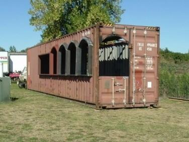 <strong>Before:</strong> Kirk Lance worked with architects and engineers to overhaul a steel shipping container to house his Mexican restaurant.