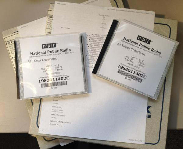 The Final Product: the audio on the reel tapes have been copied to these CDs.