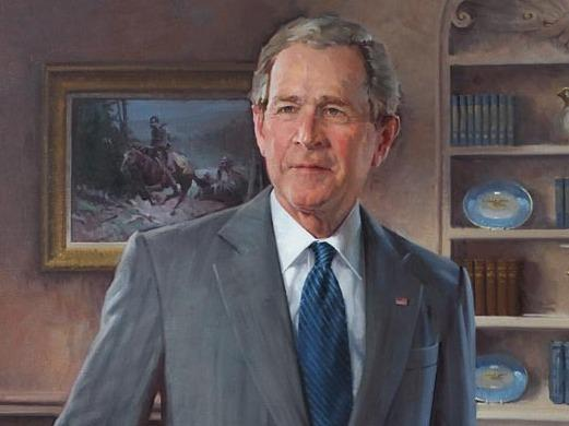 President George Walker Bush by  John Howard Sanden.