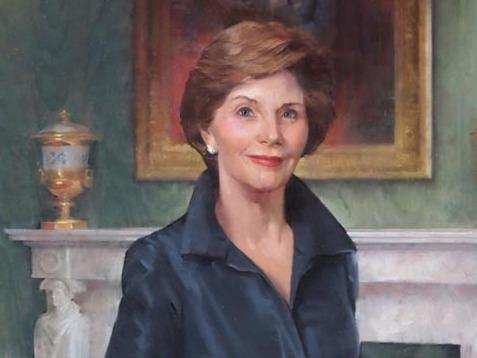 Laura Welch Bush by John Howard Sanden.