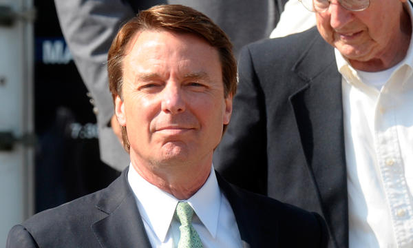Former Sen. John Edwards leaves federal court in Greensboro, N.C., Thursday after jurors acquitted him of one felony count and a judge declared a mistrial on five other charges.