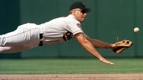 Cal Ripken Jr., pictured above in 1997, spent his entire career playing for the Baltimore Orioles. He retired in 2001.