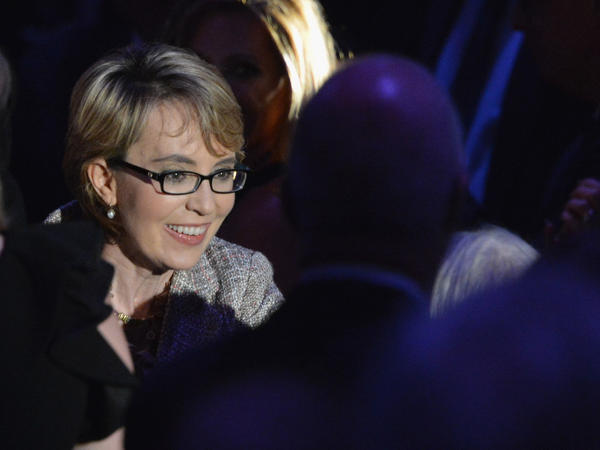 Former Rep. Gabrielle Giffords appears on May 24 at the Intrepid Sea, Air and Space Museum in New York City.
