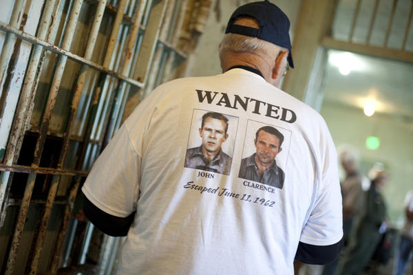 Anglin family members wore this shirt on the anniversary of the Anglin brothers' escape.