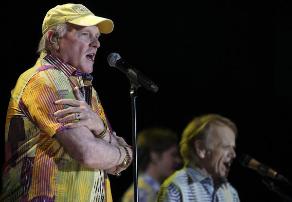 LAS VEGAS, NV - MAY 27: Mike Love and Al Jardine of the Beach Boys perform at the Red Rock Casino, Resort and Spa on May 27, 2012 in Las Vegas, Nevada. (Photo by Jeff Bottari/Getty Images)